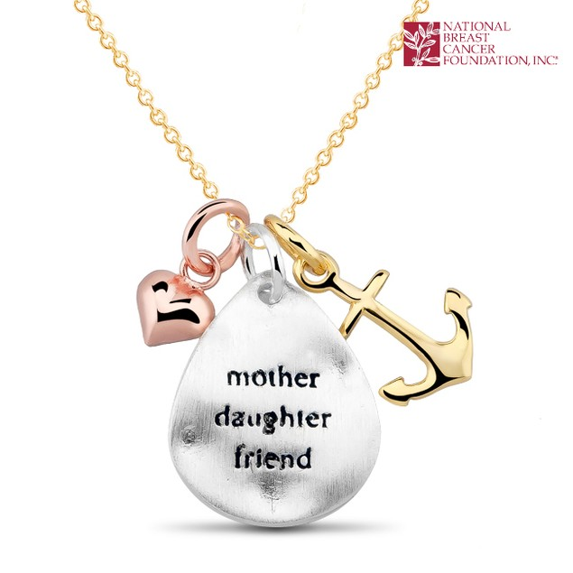 National Breast Cancer Foundation Inspirational Jewelry - Sterling Silver Mother-Daughter-Friend Pendant