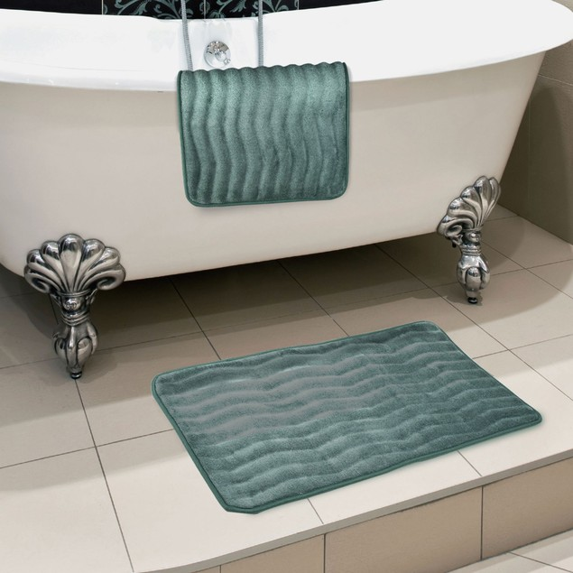 Lavish Home 2 Piece Memory Foam Bath Mat Set
