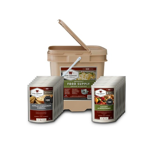 Wise Foods - 6 Serving Breakfast and Entrée Grab and Go Food Kit