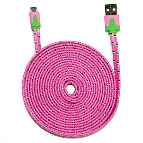 3-Pack iCover 10ft Braided Micro USB Cable
