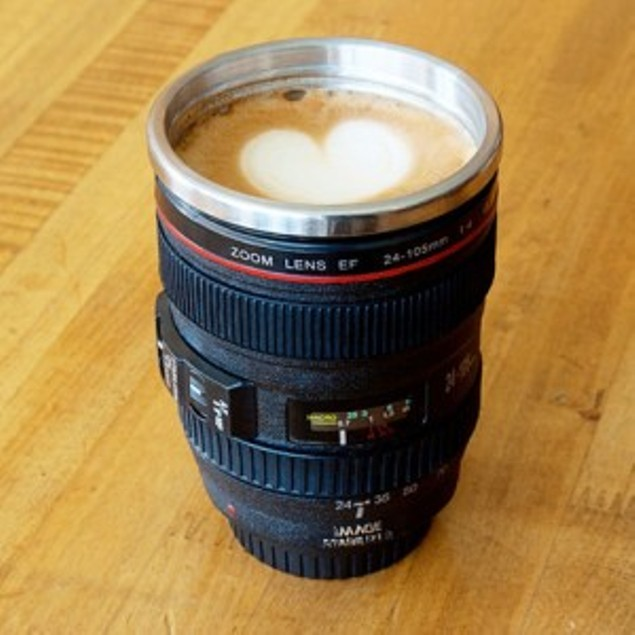 Camera Lens Stainless Steel Coffee Mug