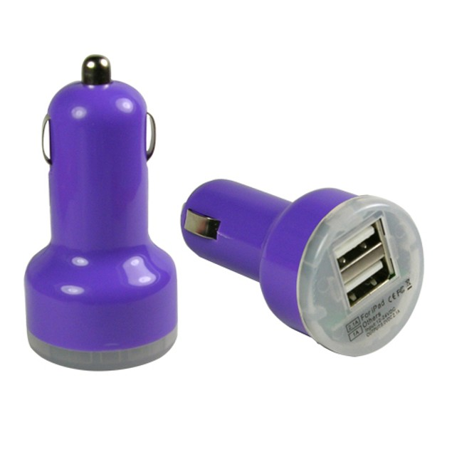 2-Pack: iCover Dual USB 2.1A Rapid Car Charger