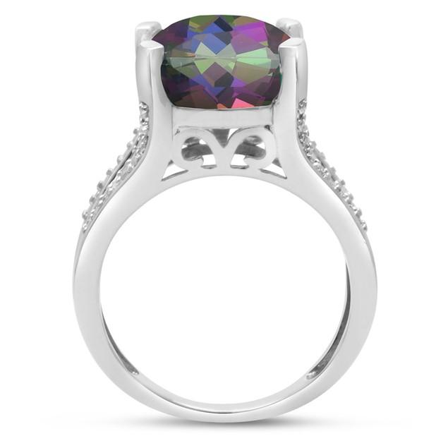 Mystic Topaz and Diamond Ring