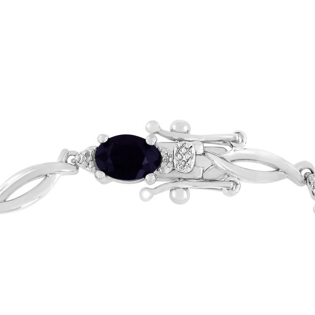 7cttw Sapphire and Diamond Bracelet