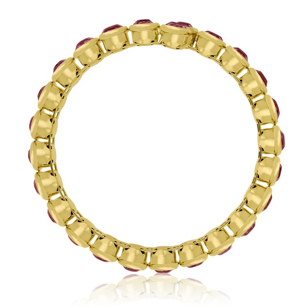 10ct Crystal Amethyst Bezel Set Bangle Bracelet