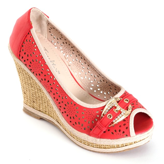 Tory Klein Women's Classic Espadrille Platform Wedge Shoes