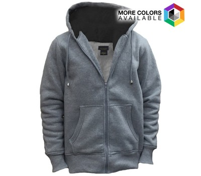 Mens Sherpa Lined Sweater With Drawstring Hoodie Tanga