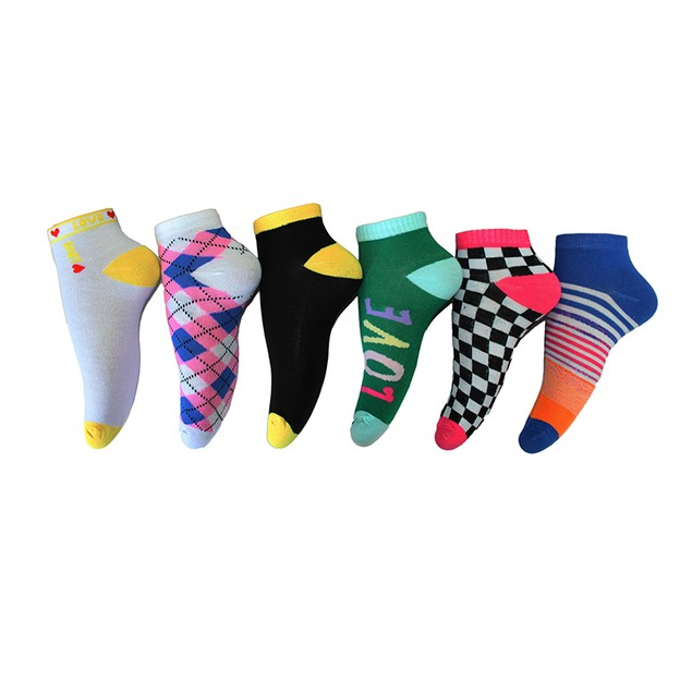 18 Pairs Frenchic Women's Fun & Vibrant Ankle Socks