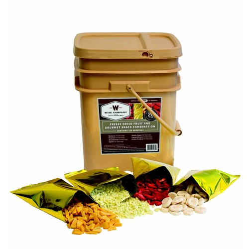 Wise Foods - 120 Serving Freeze Dried Fruit and Gourmet Snack Combination