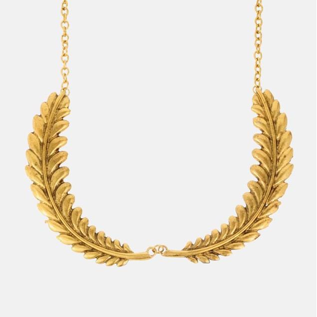Gold Leaf Collar Necklace