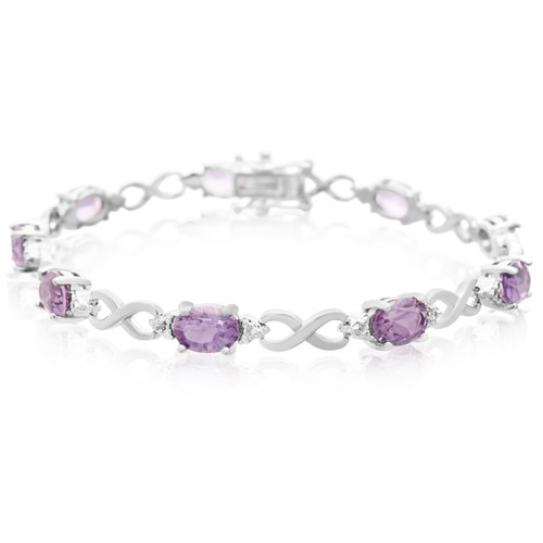 Amethyst and Diamond Bracelet 7.21cttw