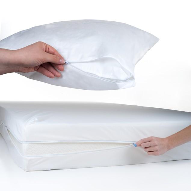 TXL Bed Bug & Dust Mite Mattress & Pillow Protector Set