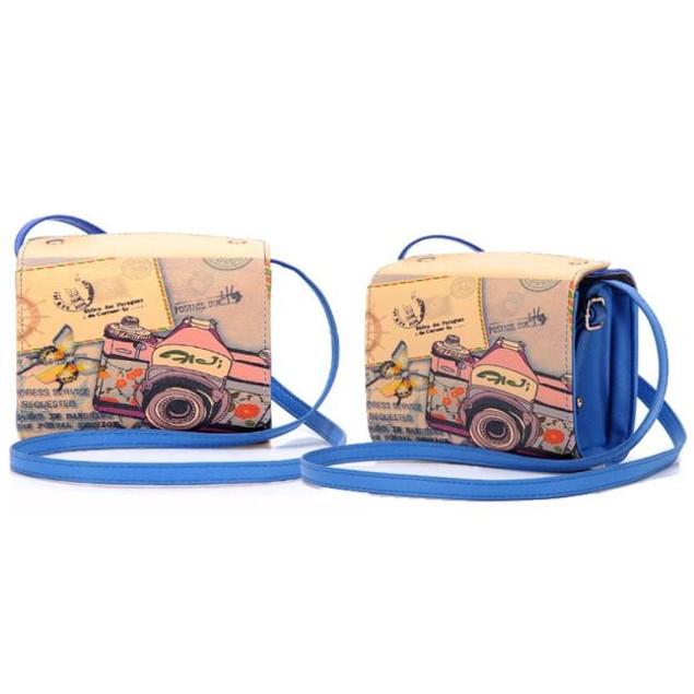 Leather Camera Bag For Fujifilm Instax Mini 7s Mini 8 Mini 25 Mini 50s